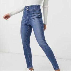 Free People- Jayde Sunburst Skinny Jeans, SIZE:24